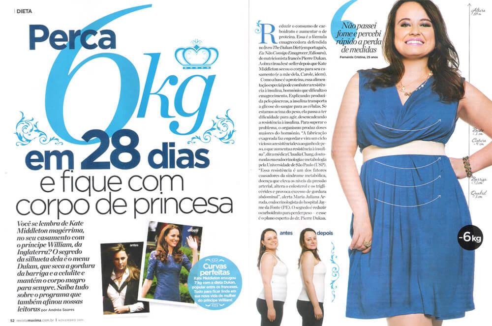 Dieta Dunkan – publicada na Revista Máxima
